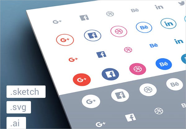 9 flat social media icons design templates free premium templates for Social media template psd