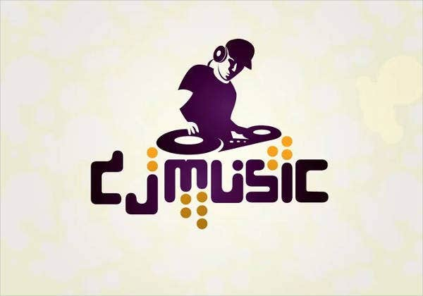music dj logo design