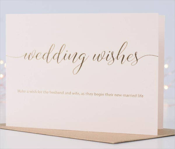 marriage wishes greeting card