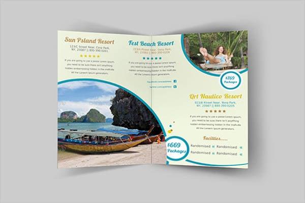 Corporate Half Fold Hotel Brochure
