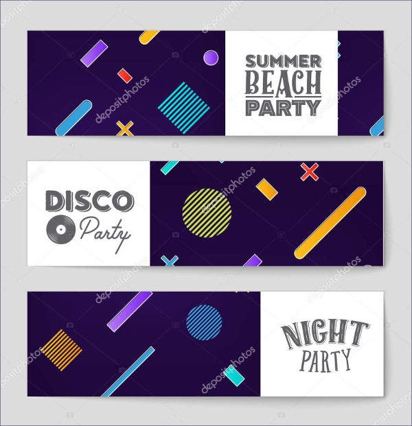 geometri style music event brochure