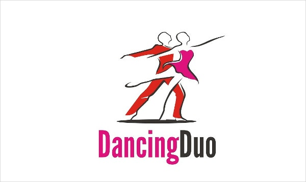 dance team logo vector