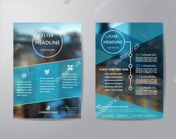 a4 professional business brochure