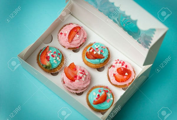Paper Cupcake Box Packaging
