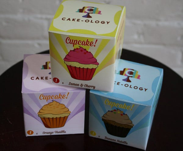 One Piece Cupcake Box Packaging