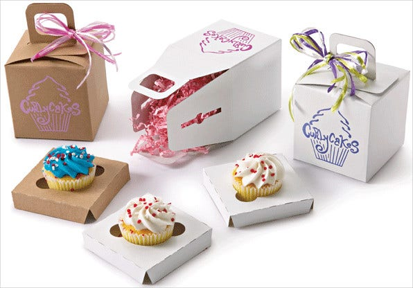Cupcake Gift Box Packaging Templates