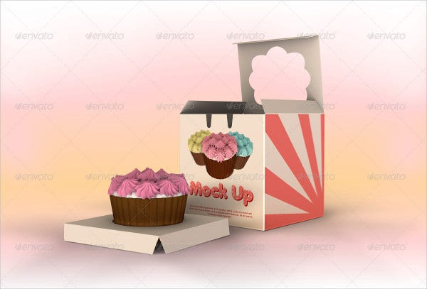 Cupcake Box PSD Template