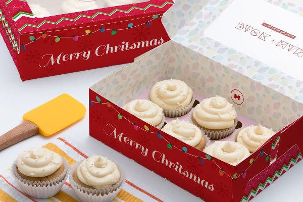 6 Cupcake Box Packaging Templates