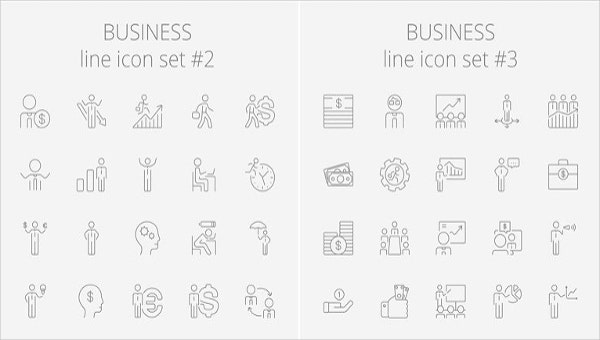 abstract business and technology icons
