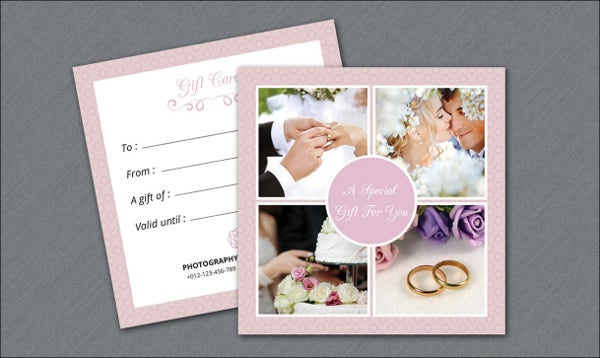printable wedding gift card template
