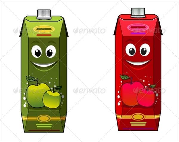 Cartoon Beverage Product Packaging
