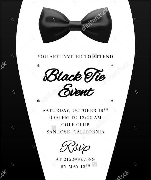 Email Invitation. Formal Event EMail Invitation Template Formal ...