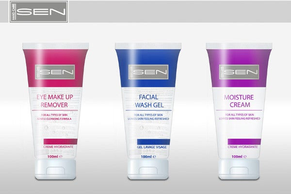 Free Cosmetic Product Packaging