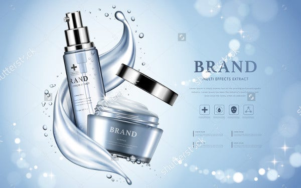 Cosmetic Advertising Product Packaging