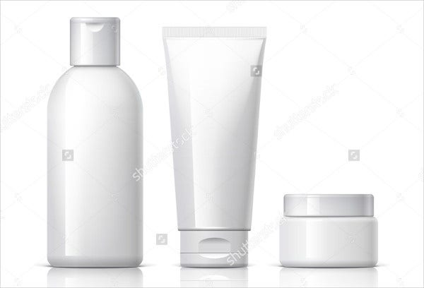 Blank Cosmetic Product Packaging