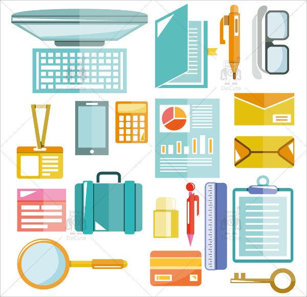 business-and-office-stationery-icons