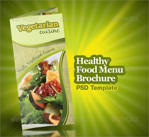 Healthy Trifold Food Brochure