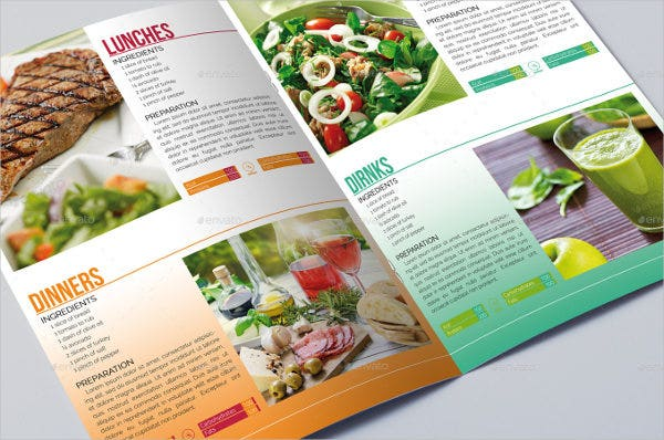 Healthy Food Diet Brochure