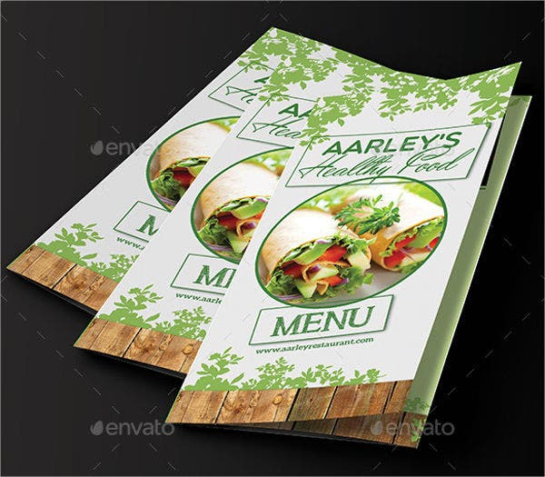 Healthy Food Menu Tri-fold Brochure