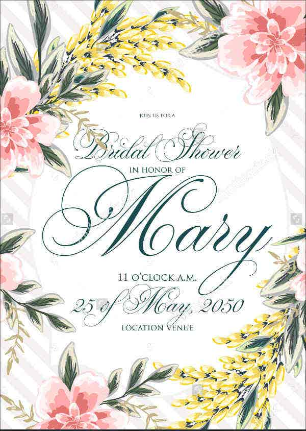5 bridal gift card template design templates free for Wedding shower gift list template