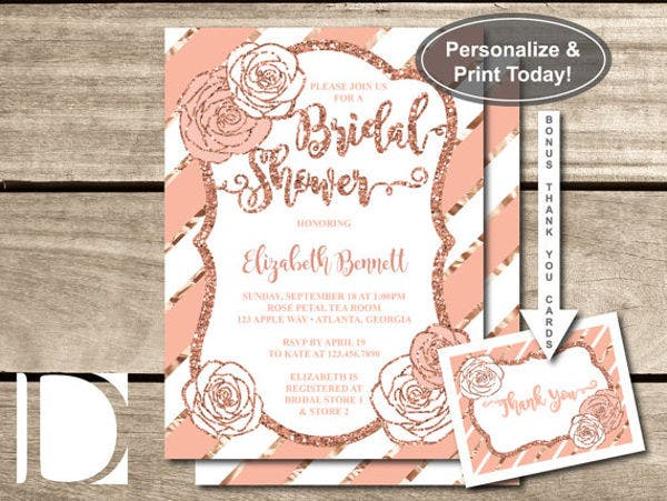diy bridal shower gift card template