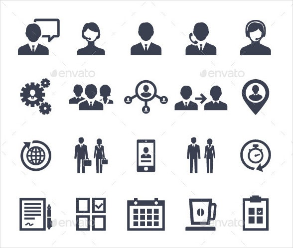 business-management-vector-icons-set