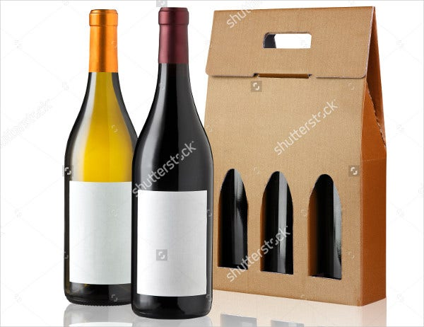 wine cardboard box packaging template1