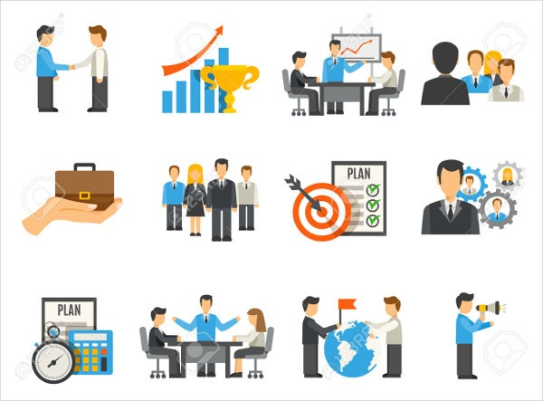 flat-design-business-management-icons