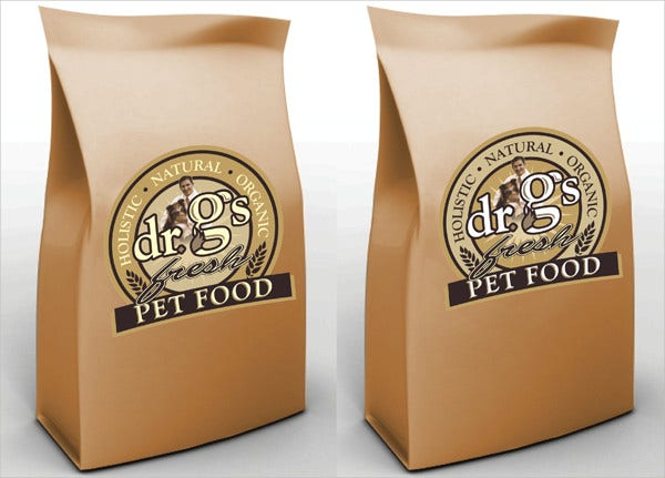 pet food product packaging