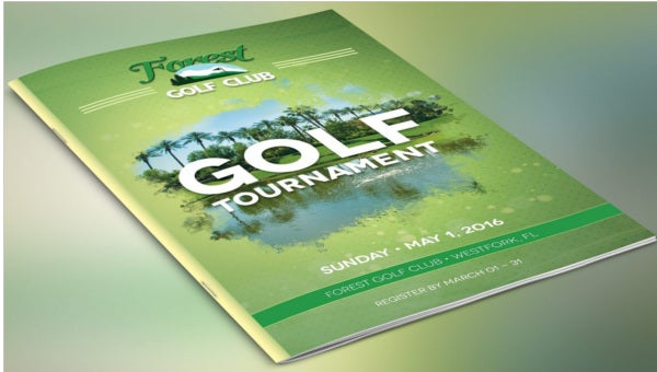 golf event brochures