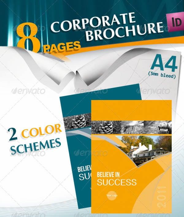 a4 business company brochure