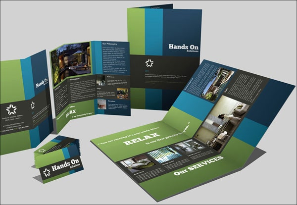 business company trifold brochure