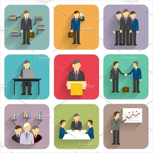 corporate business people icons