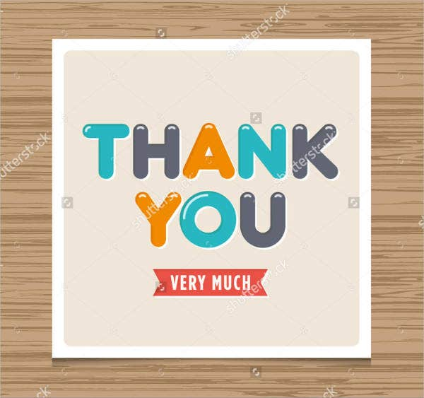 Free Diy Thank You Card