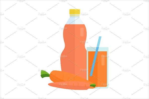 Juice Bottle Cartoon Packaging