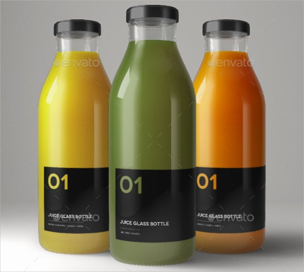 Juice Glass Bottle Packaging