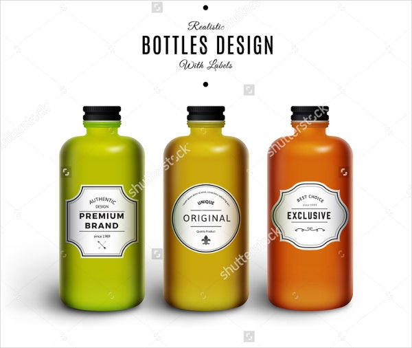 realistic juice bottle packaging