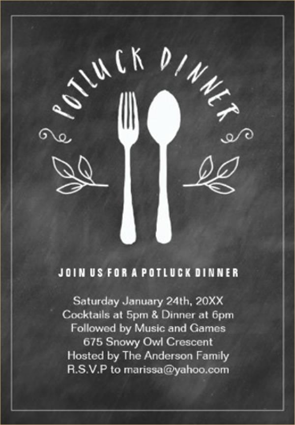 potluck dinner invitation1