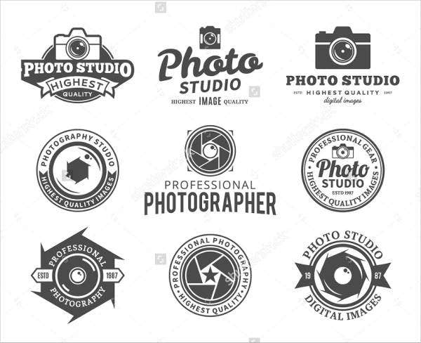 vintage photography business logo