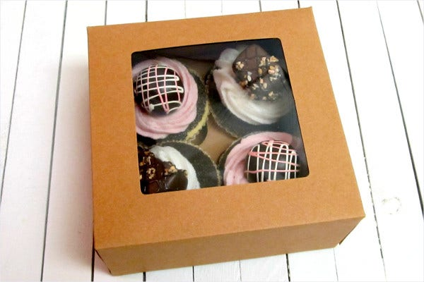 Mini Cakes Bakery Product Packaging