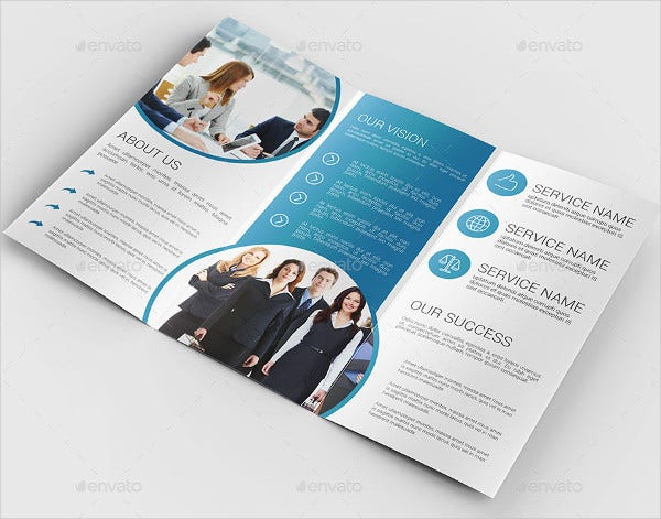 Flat Trifold Business Brochure