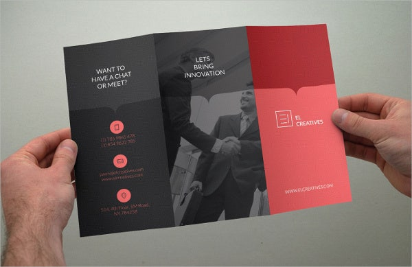 Clean Trifold Business Brochure