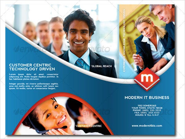 Modern Trifold Business Brochure
