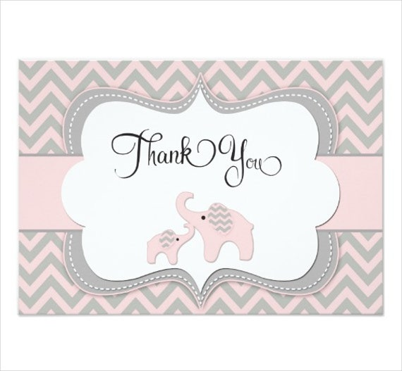 Baby Shower Thank You Cards  Design Templates  Free