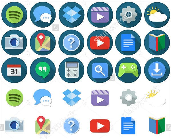 flat-android-app-icons