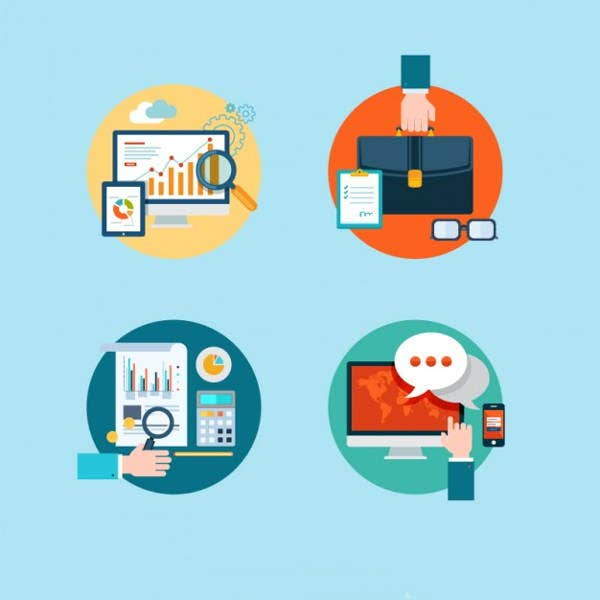 small-vector-business-icons-set