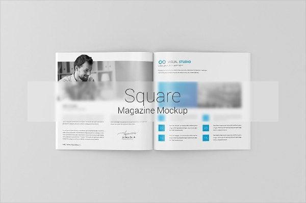 square magazine brochure