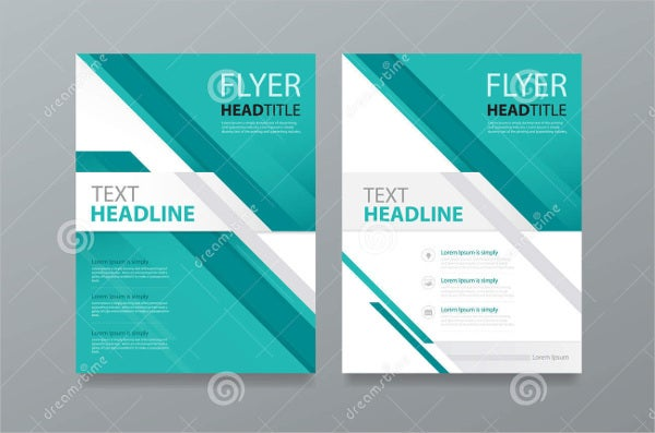 abstract magazine brochure template