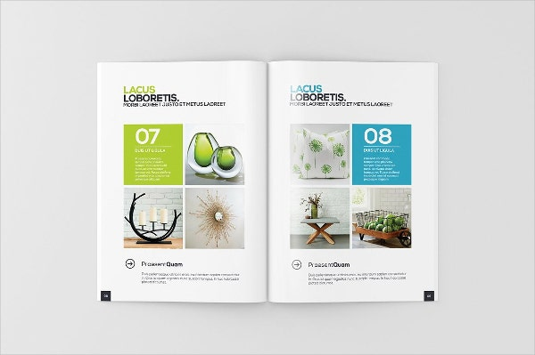 digital a4 magazine brochure