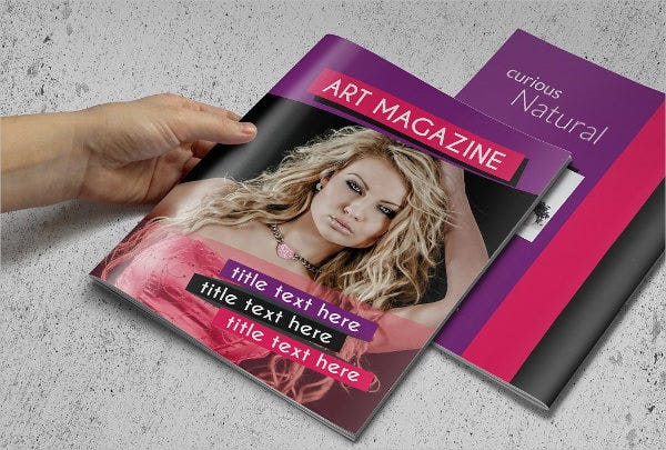 fashion magazine brochure